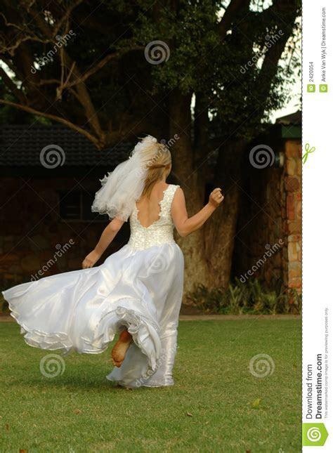Bride Running Away Stock Images   Image: 2420054