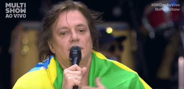 """Fábio Jr. protesta contra """"roubalheira"""" durante o """"Brazilian Day"""""""