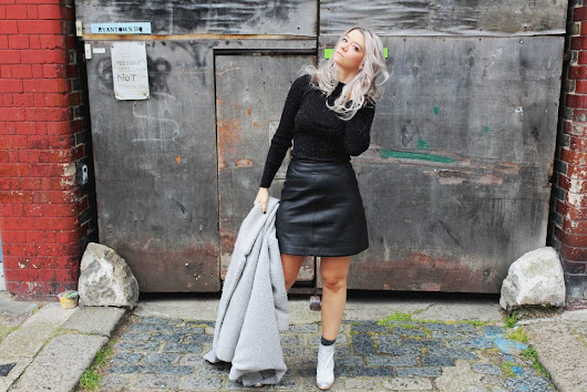 WHISTLES LEATHER A-LINE SKIRT