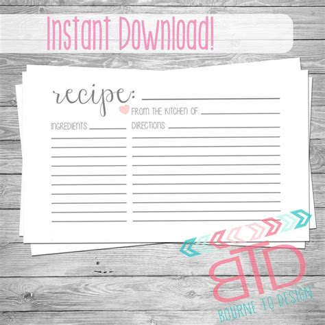 pin  donna gibson  papper crafts printable recipe