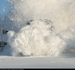 Amtrak Adirondack Punches the Snow - Frank Jolin