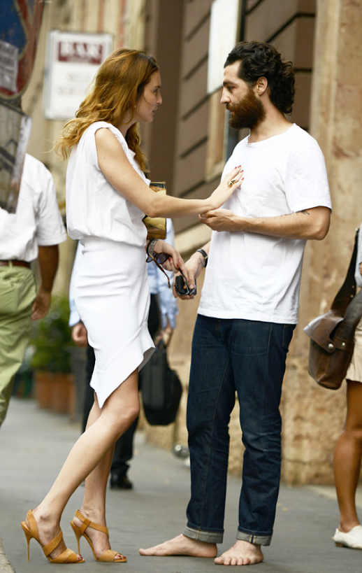 LE FASHION BLOG STREET STYLE STYLISH COUPLES BEARDS BABES PART 2 TOMMY TON WHAT IS CONTEMPORARY WHITE TRUMPET HEM FRILL HEM SKIRT DRESS ROLLED UP SLEEVES TEE TSHIRT MUSCLE TANK TOP ORANGE TAN STRAPPY HEEL SANDALS WHITE T SHIRT DENIM MENS STYLE INSPIRATION BARE FOOT CUFFED DENIM 2 photo LEFASHIONBLOGBEARDSBABESPART2TOMMYTON2.png