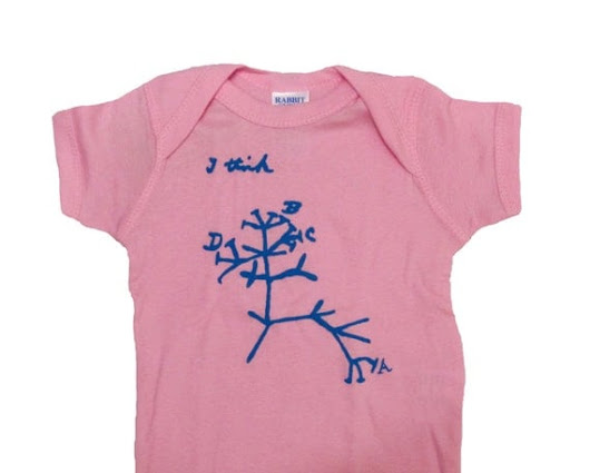 6 Month Baby Onesie - Nerdy Science Baby Shower Gift - Darwin's Tree of Life