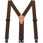 """Perry Hook-On Belt Suspenders Big N Tall - The Original - Brown - 1.5""""W x 54L"""
