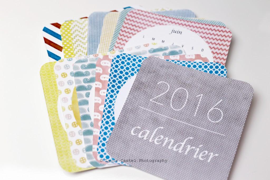 Calendrier 2016 à imprimer Les Petits Riens