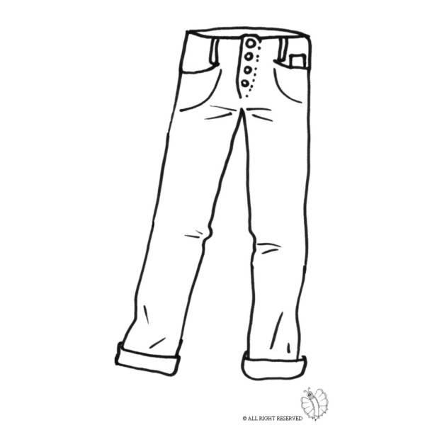 Disegno Di Pantaloni Uomo Da Colorare Per Bambini