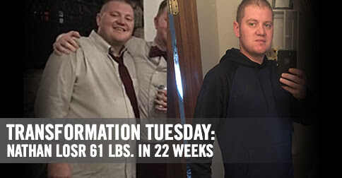 Transformation Tuesday: Nathan Lost 61 Pounds in 22 Weeks | Bowflex