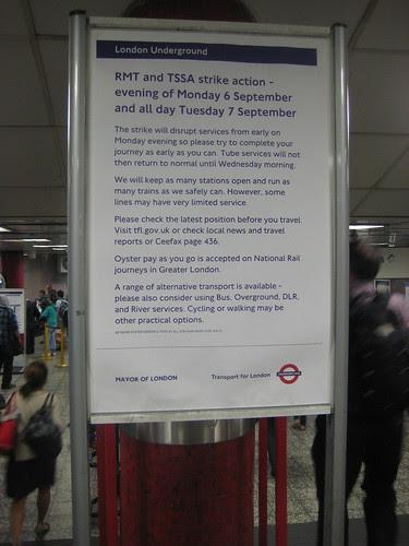 Tube Strike September 2010