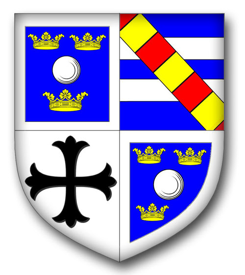 The armorial bearings of the husband of Joanna Leigh of Adlington