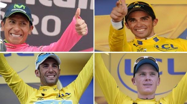 Quintana, Contador, Nibali y Froome