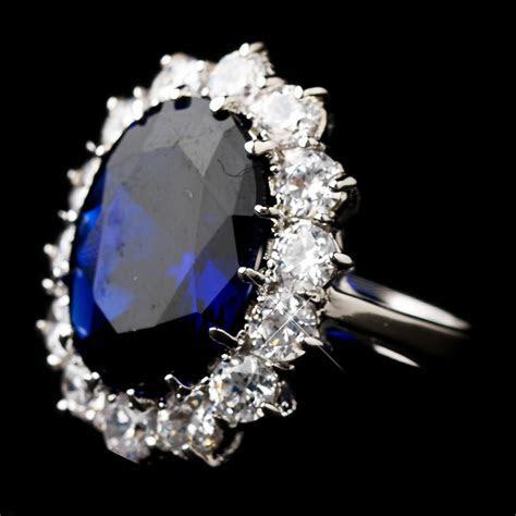 Royal Princess Kate Sapphire Ring   Elegant Bridal Hair