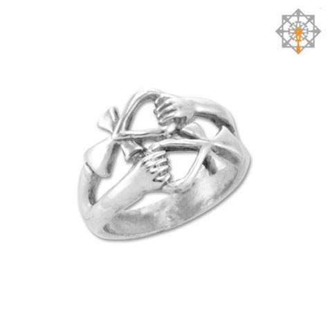 Double Ankh Friendship Ring by Studio of Ptah   Studio of