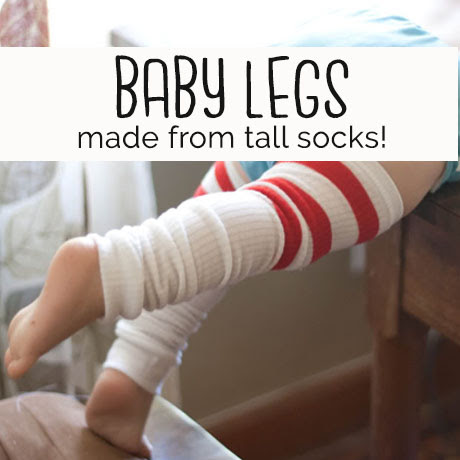 diy easy baby legs legwarmers tutorial
