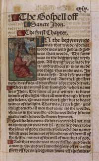 The Tyndale Bible Gospel of John