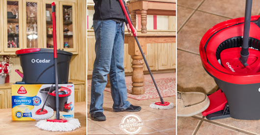 Wring in Spring Cleaning with the EasyWring Mop | Kids Activities Blog