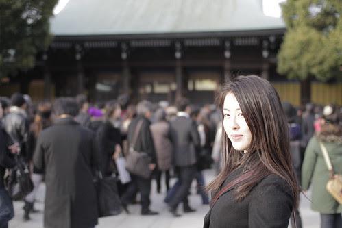 It was pretty sunny at the main shrine