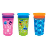 Munchkin 2019 Miracle 360° Deco Sippy Cup, Assorted Models (Green Car, Pink Bird, Blue Whale & Blue Bird), 1-Pack