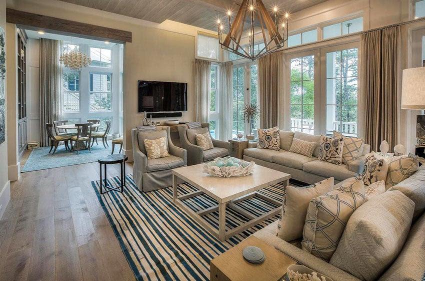 19 Coastal Themed Living Room Designs (Decorating Ideas ...