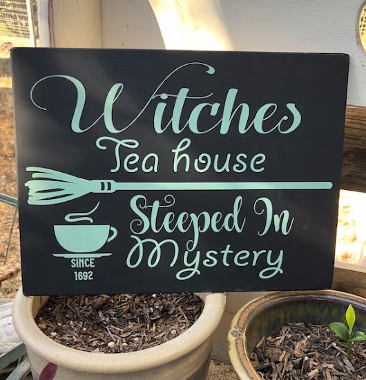 Witches TEA House Steeped In MYSTERY / Hand painted Witchery | Etsy