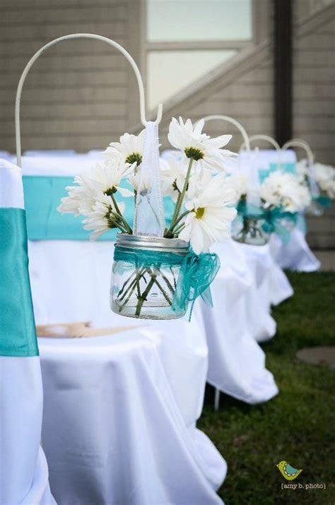 Candelabra Centerpieces : wedding chair sashes turquoise
