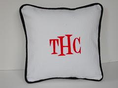 Denim Monogrammed Pillow