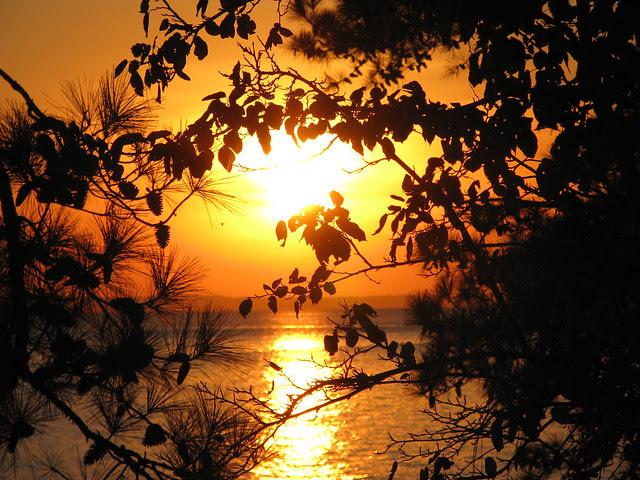 peeking sunset via www.foobella.blogspot.com
