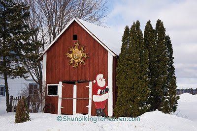 Barn with Santa, Sauk County, Wisconsin