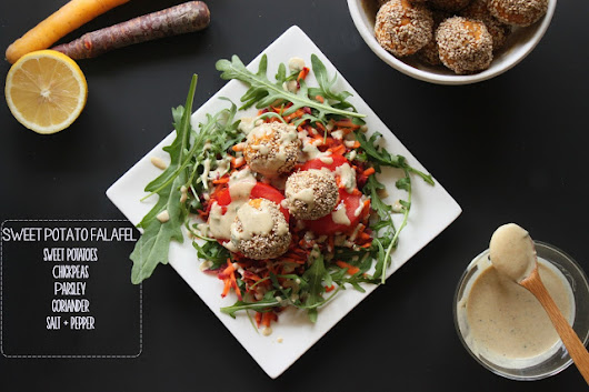 Sweet Potato Falafel With Tahini Mint Sauce | The Local Rose