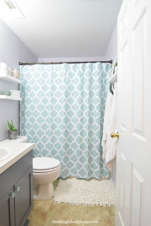 Light & Bright Guest Bathroom Makeover - The Reveal!
