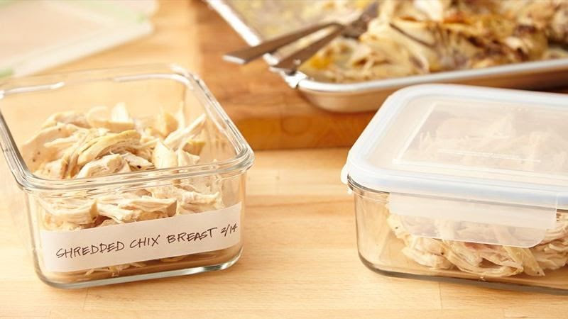 Make-Ahead Shredded Chicken Breast