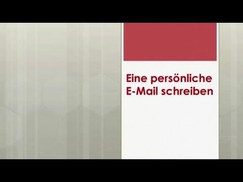 Deutsch Global Eine Persönliche E Mail Schreiben