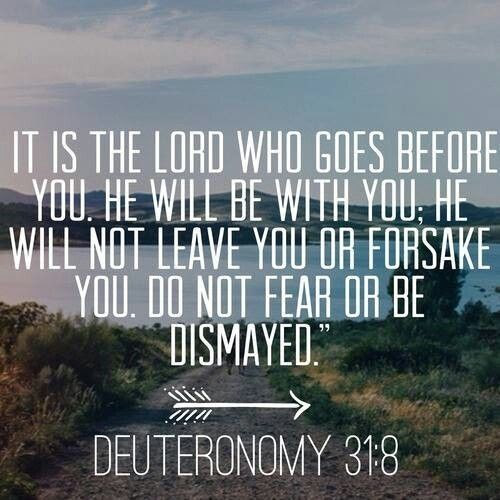 Deuteronomy 31:8...More at http://beliefpics.christianpost.com/