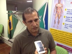 Rubivar Nobre, coordenador de segurança comunitária (Foto: John Pacheco/G1)