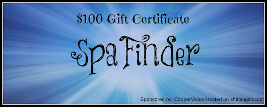 $100 Spa Finder Gift Certificate Giveaway - She Blogs It