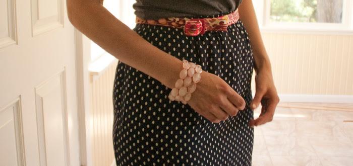 powerclashing polka dots floral yellow blue gray tee purple j.crew dash dot dotty fashion blog