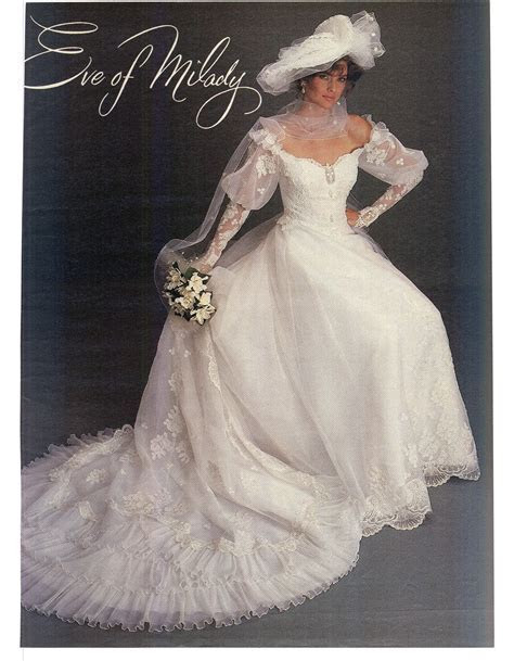 Modern Bride Feb/Mar 1984   Vintage gowns   Eve of milady