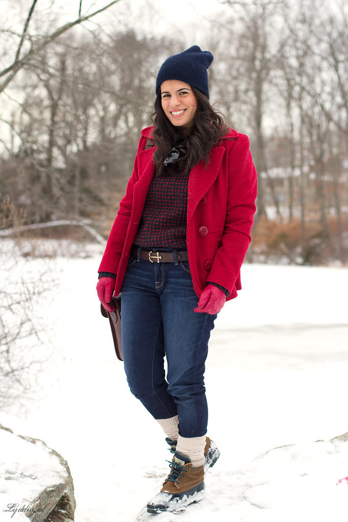 Wool Sweater - Red Pea Coat