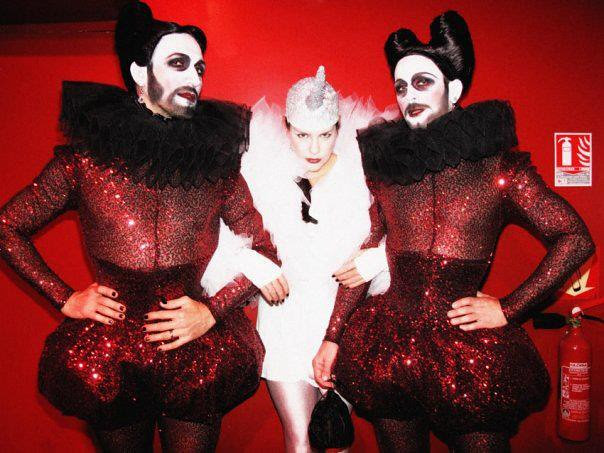 Halloween 2009 - Marc Zaffuto e Emmanuel D'Orazio with Miss Kittin - photo Mathieu Baumer