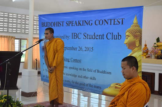 Buddhist Speaking Contest organized by the IBC Student Club | International Buddhist College