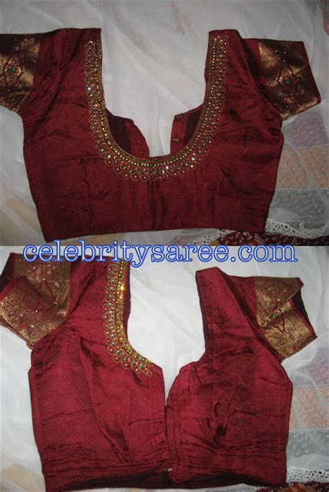 Silk Embroidery Designer Hand Work Blouses Gallery 1
