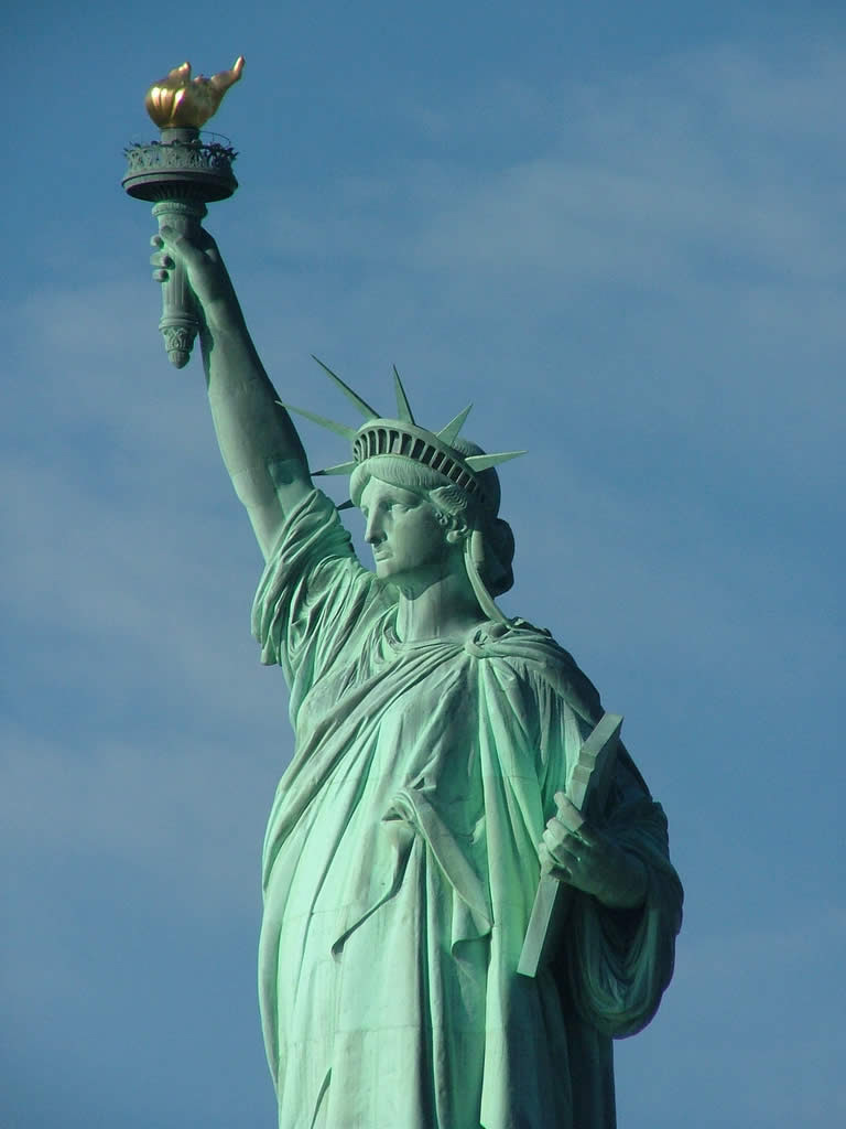 The Statue of Liberty in New York