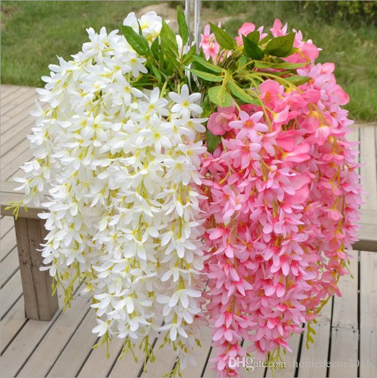 2017 65cm Long Artificial Hanging Orchids Plants Fake Silk