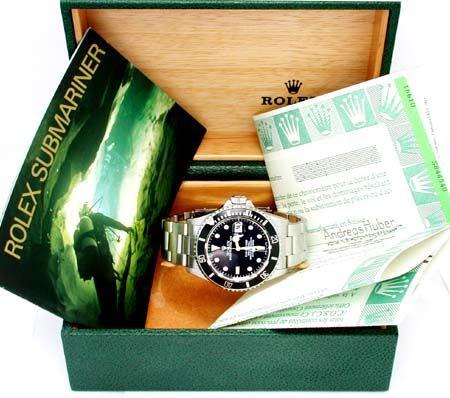 Foto 3, Orig. Rolex Submariner Datum Edelstahl Armbanduhr Neuz., U1770