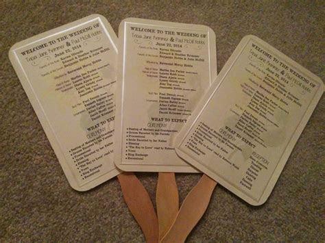Paper Fan Wedding Programs « Do It Yourself N Save