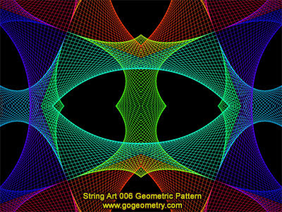 String Art 06: Bézier curves, Geometric Pattern, Symmetry, Software.