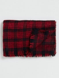 Topman Red And Black Blanket Scarf