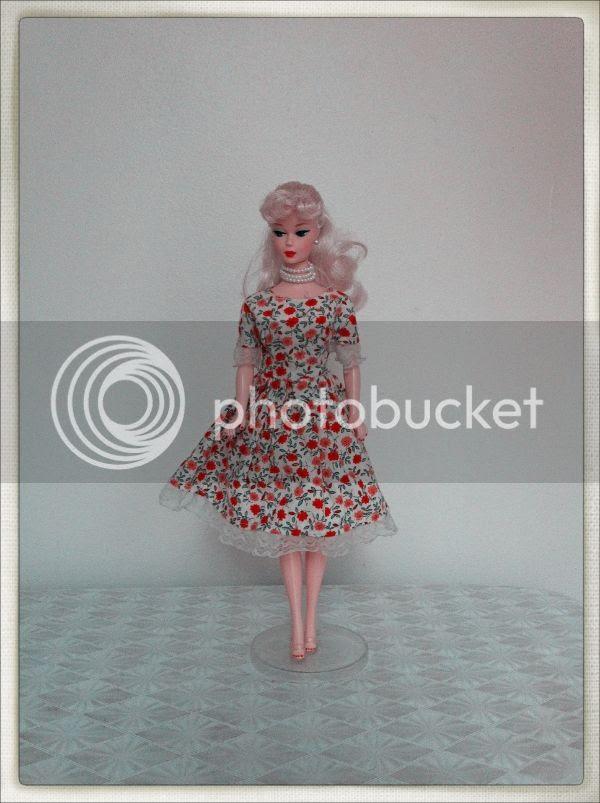 vintage barbie rose dress