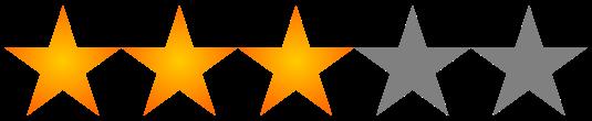 Resultado de imagen de puntuacion 3,5 estrellas