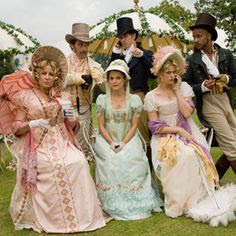 """Austenland"" -This hysterical romp through the world of Austen lovers takes our heroine, Jane Hayes, to England where she gets to enter the world of Austen re-enactment, dressing in Empire-waist gowns, dancing by candlelight and falling—in a stumbling, staggering, lose-your-fan-and-sash kind of way—in love with a certain tall, dark Mr. Almost Darcy."