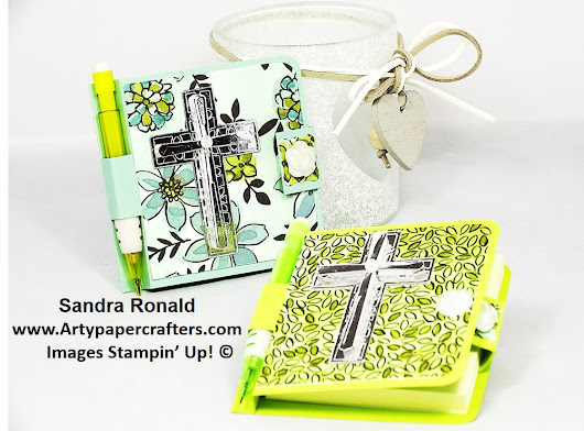 Cross of Hope Post It Note Pad with Velcro Fastening | Arty Paper Crafters